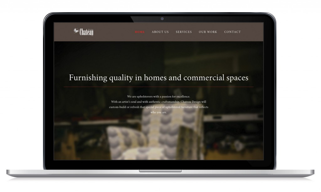 Chateau Design Website - Desktop