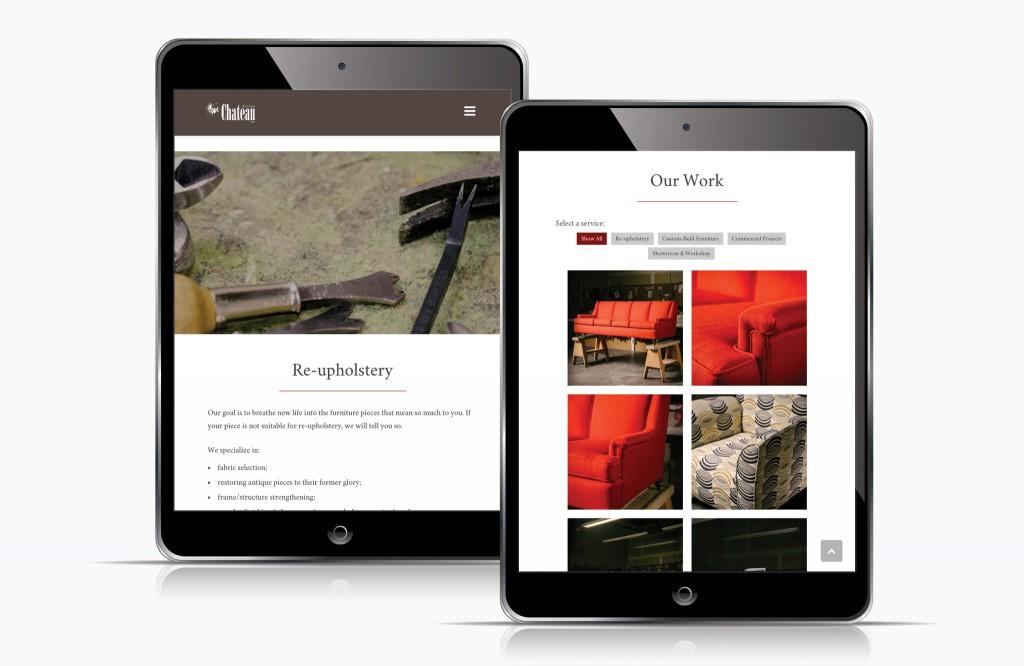 Chateau Design Website - Tablet
