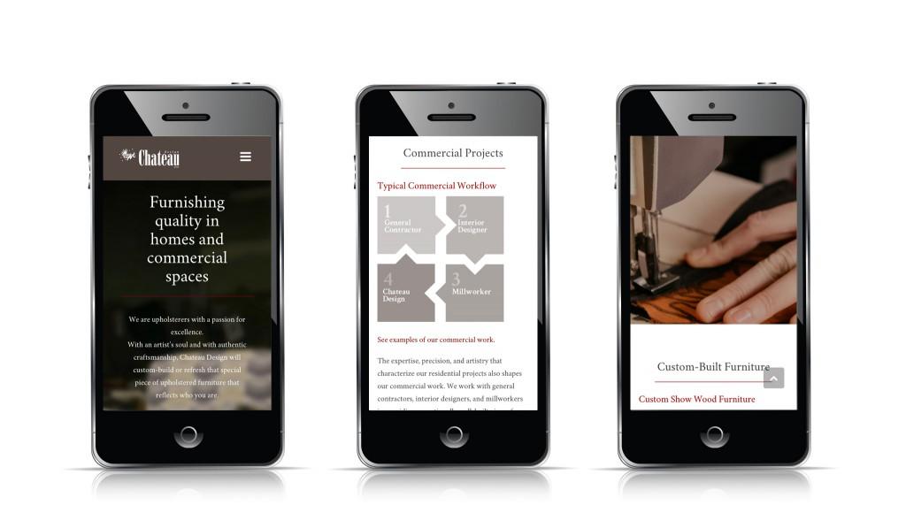 Chateau Design Website - Mobile