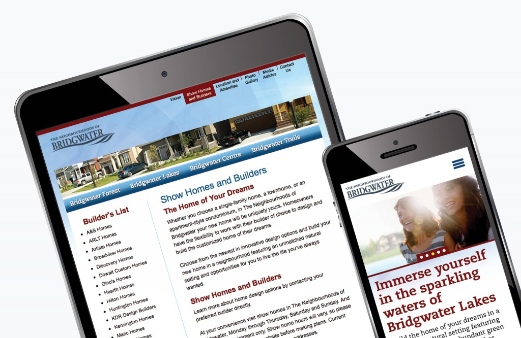 Bridgwater Neighbourhoods Website - Tablet and Mobile