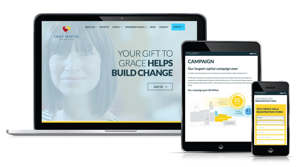 Grace Hospital Foundation - Tomorrow's Grace Website - Desktop, Tablet and Mobile