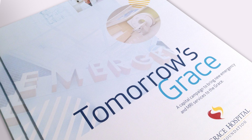 Grace Hospital Foundation - Tomorrow's Grace Brochure Cover