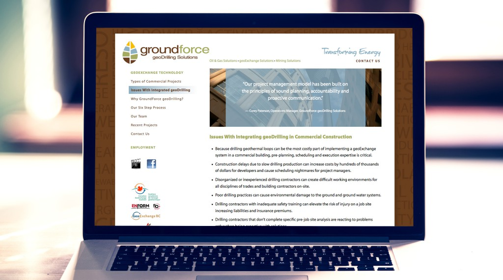 Groundforce Website