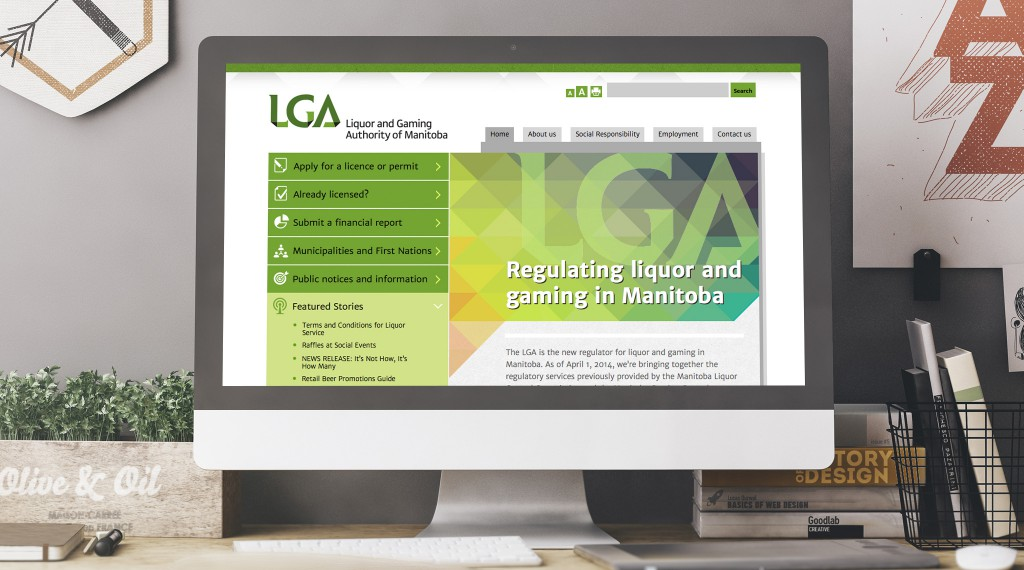 LGA Manitoba - Desktop Website