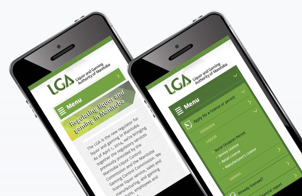 LGA Manitoba Website - Mobile