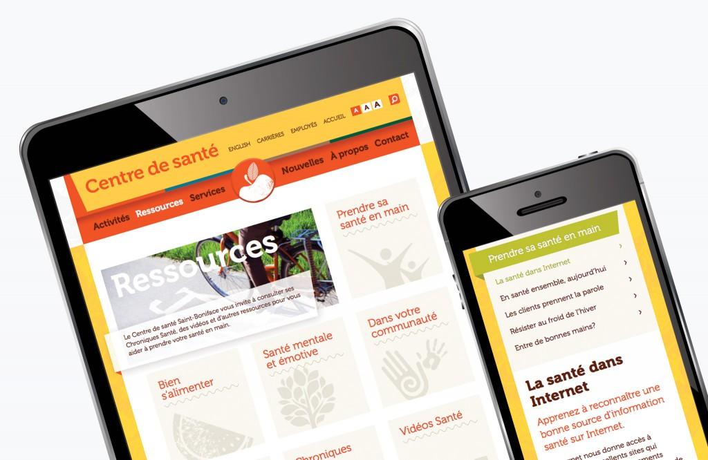 Centre de santé Website - Mobile
