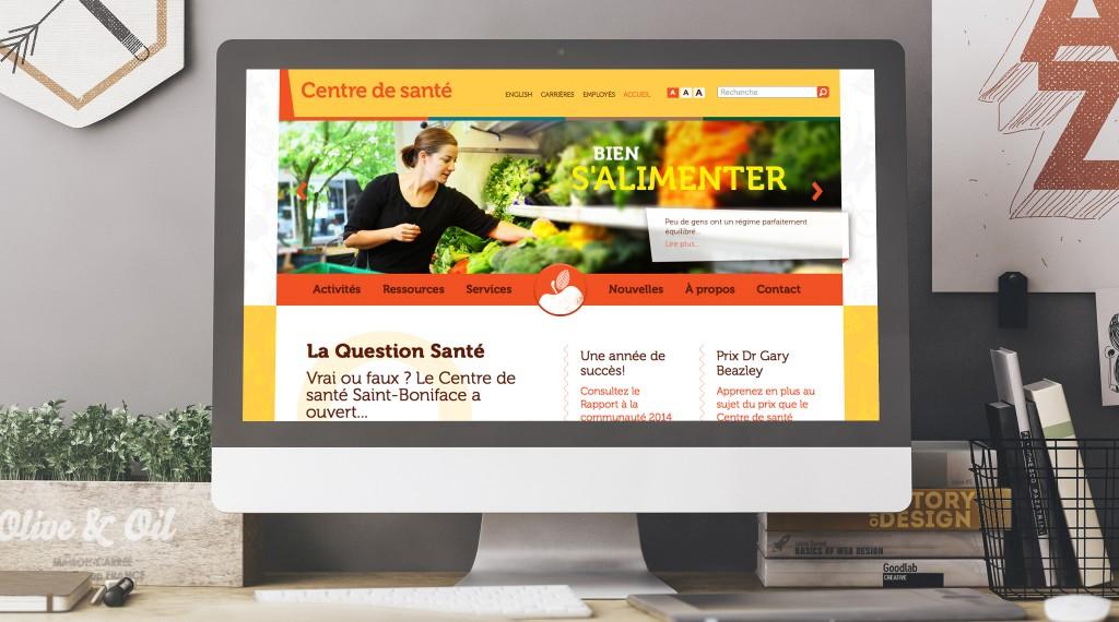Centre de santé - Desktop Website