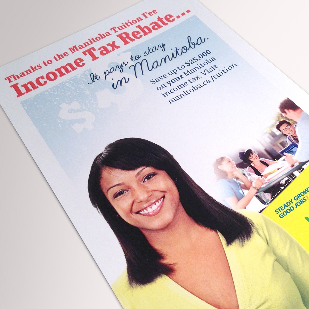 Manitoba Tuition Fee Income Tax Rebate - Print Advertisement