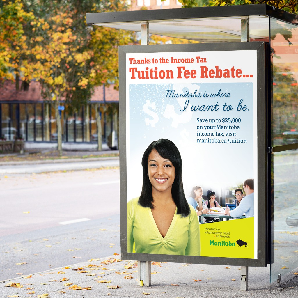 Manitoba Income Tax Tuition Fee Rebate - Bus Shelter