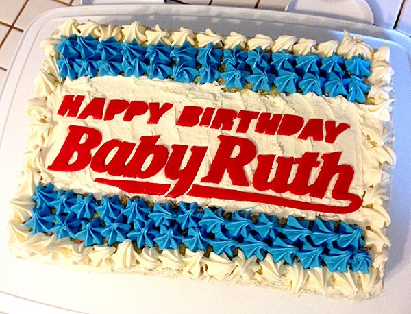 Baby Ruth Birthday Cake