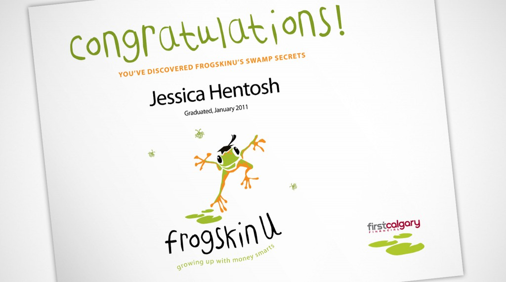 FrogskinU Certificate